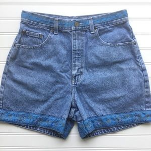Vintage Bill Blass Denim High Rise Mom Shorts Sz 6